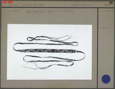 Bande de portage, en corde brodée