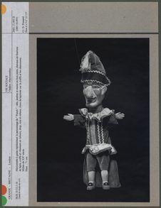 """Marionnette à gaine représentant le personnage de """"Punch&quot"""