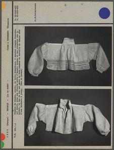 Chemise de dessus courte, en toile