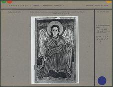 Icône peinte, saint Michel pesant les âmes