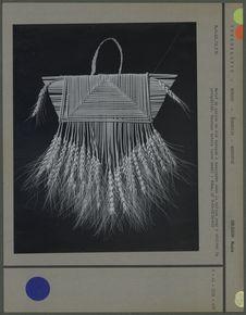 Motif de paille de blé tressée