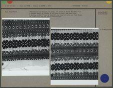 Echantillons de tissage, motifs de double K