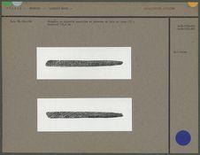 Fragment de baguette appointée et décorée