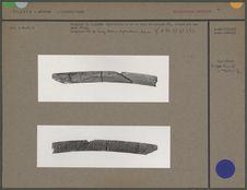Fragment de baguette demi-ronde en os ou bois de cervidé