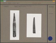 Fragments de pointes, bois de renne décoré