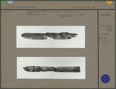 Propulseur sculpté en bois de renne, cervidé