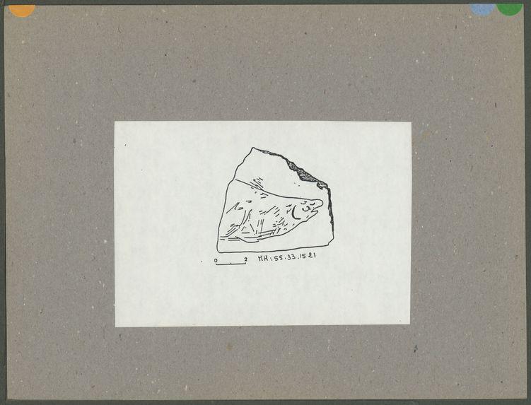 Gravure de poisson en pierre