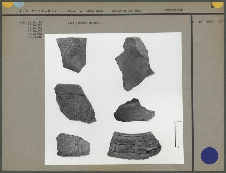 Fragments de céramique