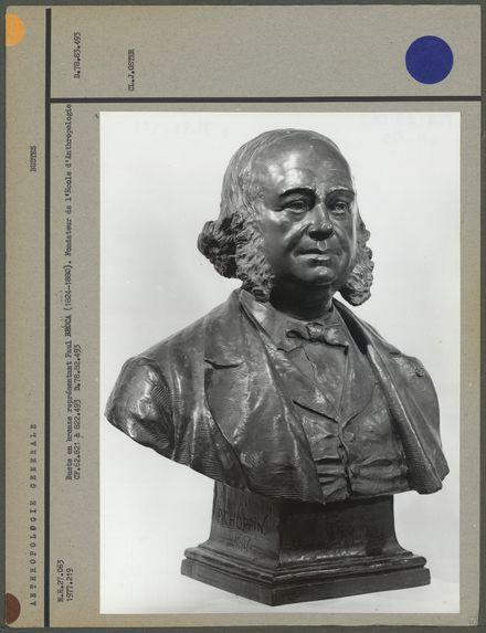 Buste en bronze représentant Paul Broca