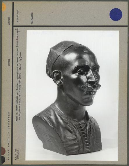Buste en bronze exécuté par Cordier, Arabe
