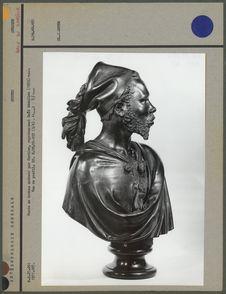 Buste en bronze, Saïd Abdallah, vue de profil