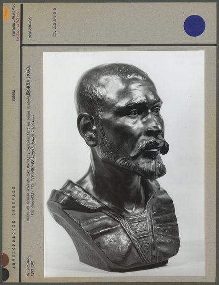 Buste en bronze, Arabe de Biskra, profil