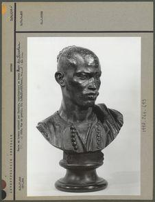 Buste en bronze, homme du Soudan