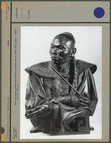 Buste en bronze exécuté par Cordier, chinois