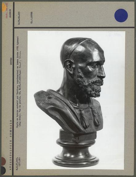 Buste en bronze, Arabe d'El Aghouat, profil