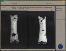 Moulage d'une flûte en os