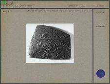 Fragment d'une jatte en poterie