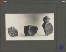 Trois fragments de poterie