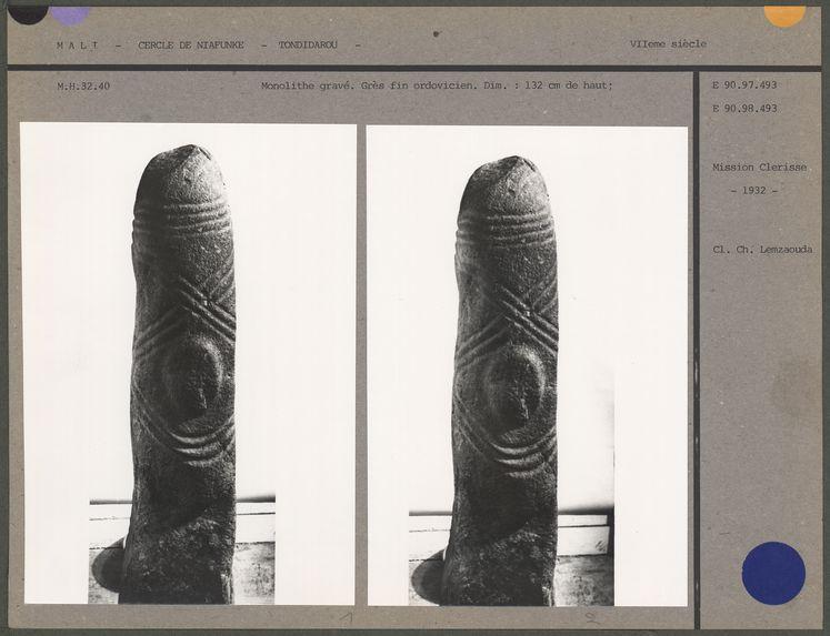 Monolithe gravé en grès fin ordovicien