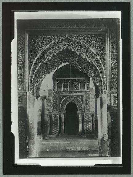 Marrakech. Entrée du tombeau des Saadiens