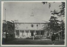 Tahiti. Façade de l'hôtel du gouvernement ; 14 juillet 1897