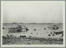 Départ de la pirogue de plongée dans le lagon de Tuamotu
