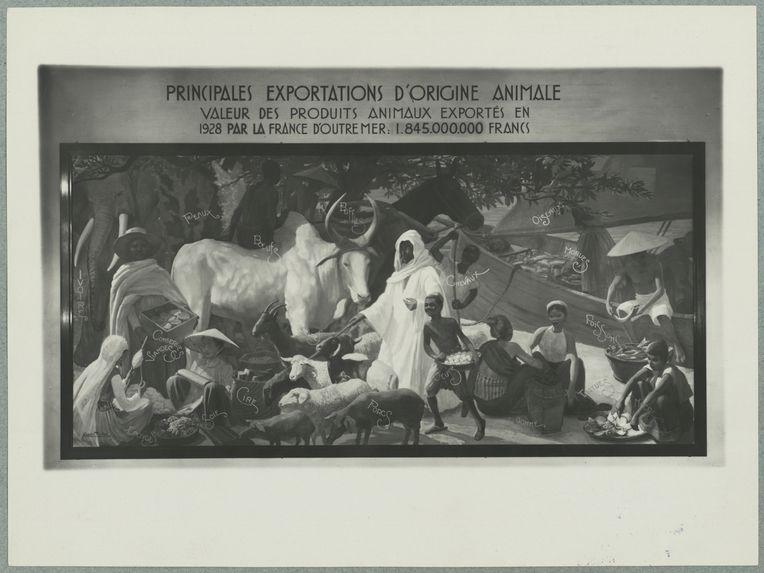 """Sans titre [reproduction d'un tableau : """"Principales exportations d'origine animale""""]"""