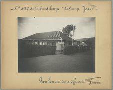 """Cie d'l. P. de la Guadeloupe """"Le Camp Jacob"""". Pavillon des..."""