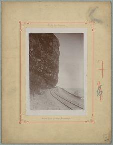 La voie ferrée au Cap Lahoussaye
