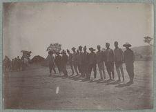 Groupe de miliciens sénégalais ouvriers d'art