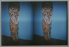 Sans titre [sculpture anthropomorphe peinte. Musée national des arts d'Afrique...