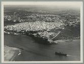 Vue aérienne de la médina de Rabah avec la pointe des Ondaïas