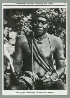 Le grand chef de Banso à Kumbo