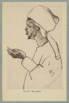 Croquis Marocains. En prière