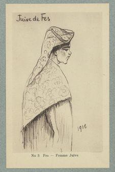 Croquis Marocains. Fes. Femme Juive