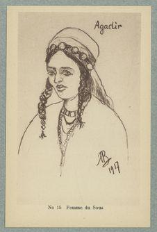Croquis Marocains. Femme du Sous
