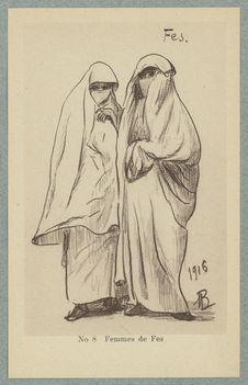 Croquis Marocains. Femmes de Fes