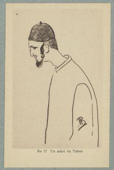 Croquis Marocains. Un askri du Tabor