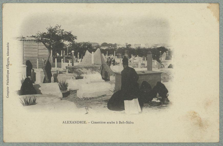 Alexandrie. Cimetière arabe à Bab-Sidra