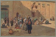 Scène de rue au Caire. Types of the people in Cairo