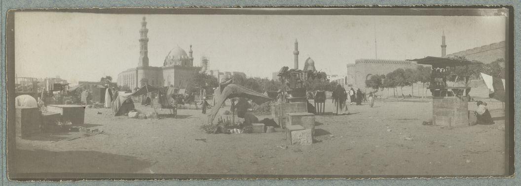 Place de la citadelle au Caire (quartier indigène)