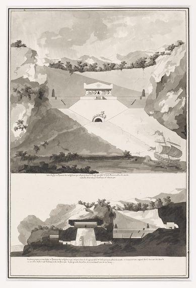 Projet de cénotaphe en l'honneur des navigateurs ayant péri lors du voyage de La Pérouse autour du monde