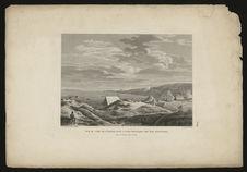 Vue du camp de l'Uranie, dans la Baie Française des Iles Malouines