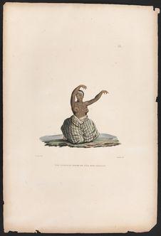 Iles Sandwich : Femme de l'Ile Mowi dansant