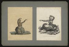Jeune femme des Iles Sandwich dansant