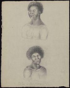 Jeune homme de Fanoa, tribu payenne de Samoa et jeune fille de la tribu payenne...