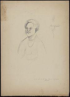 Jeune femme de la tribu payenne de Samoa