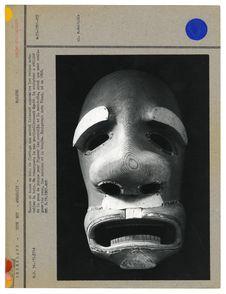 Masque de danse en bois de flottage non noirci