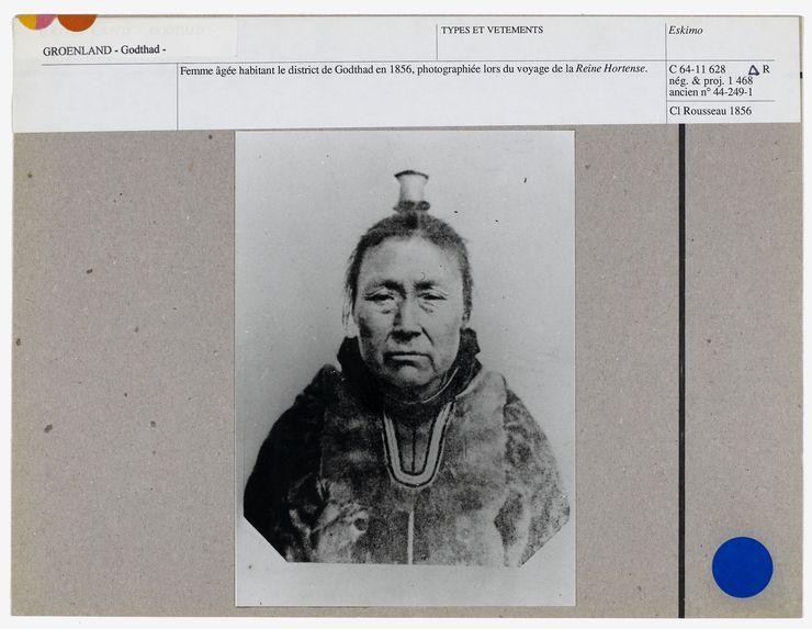 Femme âgée habitant le district de Godthad en 1856