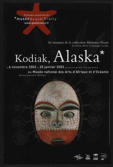Kodiak, Alaska. Les masques de la collection Alphonse Pinart du Château-Musée de Boulogne-sur-mer